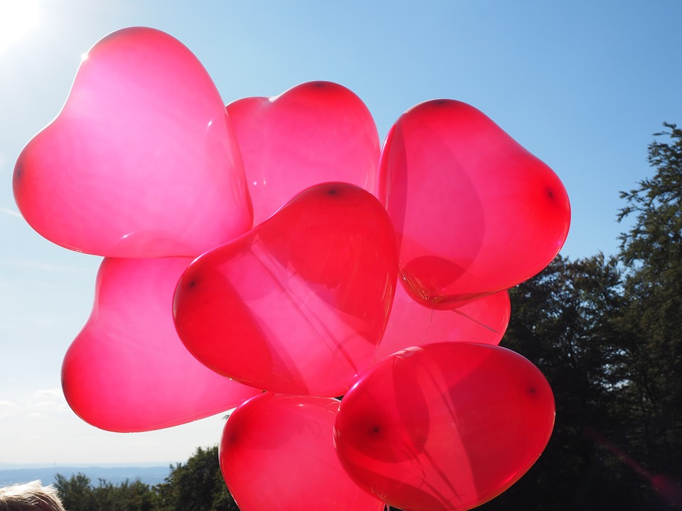 Balloons, Heart, Love, Romance, Romantic, Relationship