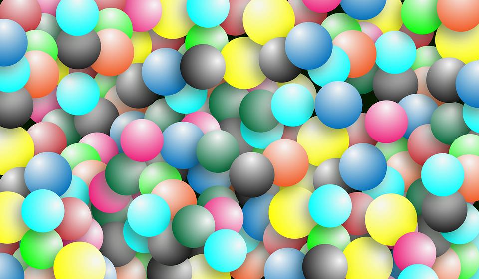 Texture, Balloons, Multi Color, Banner, Circles