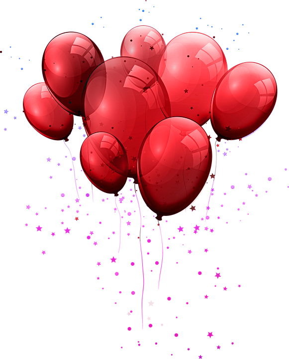 Red Balloons, Balloons, Party, Birthday, Flying