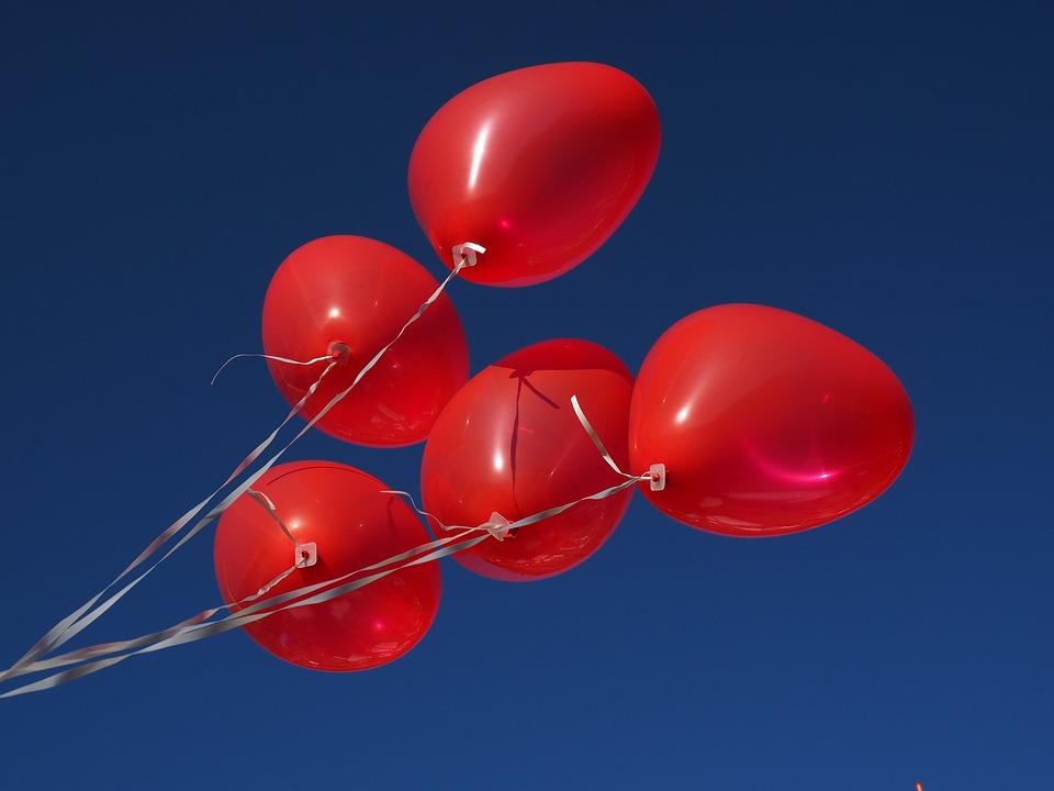 Balloons, Heart, Love, Romance, Romantic, Relationship