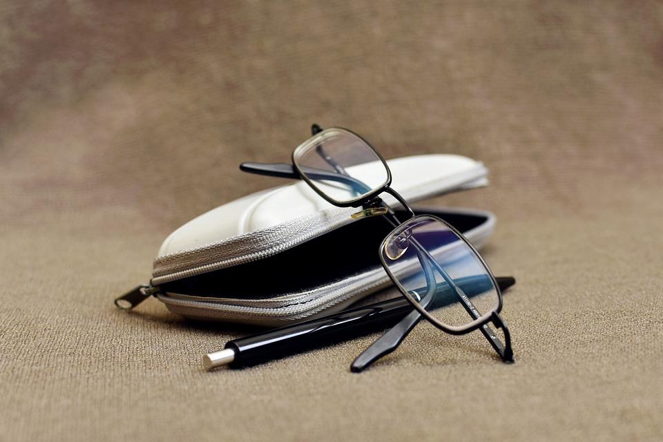 Eyeglasses, Glasses, Pen, Black Pen, Ballpoint Pen