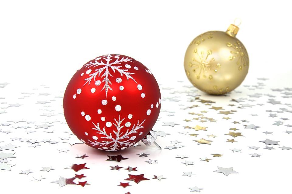 Baubles, Stars, Balls, Christmas, Ornaments