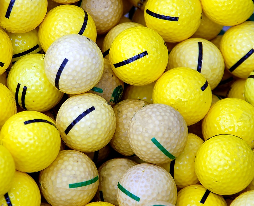 Golf Balls, Practice, Balls, Yellow, Golf