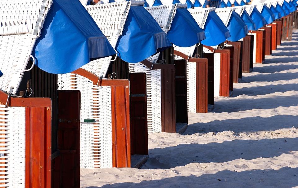 Beach Chair, Beach, Clubs, Baltic Sea, Blue, Sand