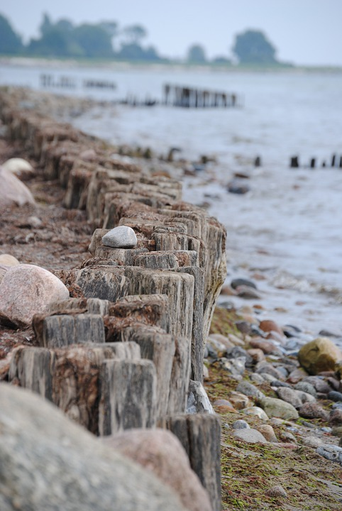 Kellenhusen, Beach, Baltic Sea, Piles, Sea, Coast