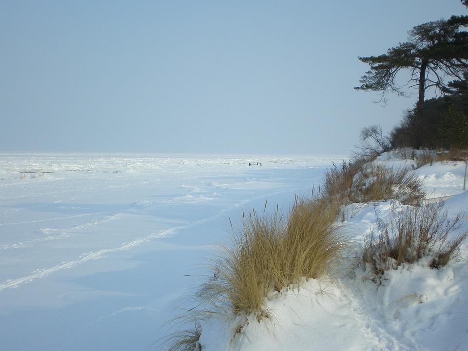 Island Of Usedom, Winter, Baltic Sea, Snow, White, Cold