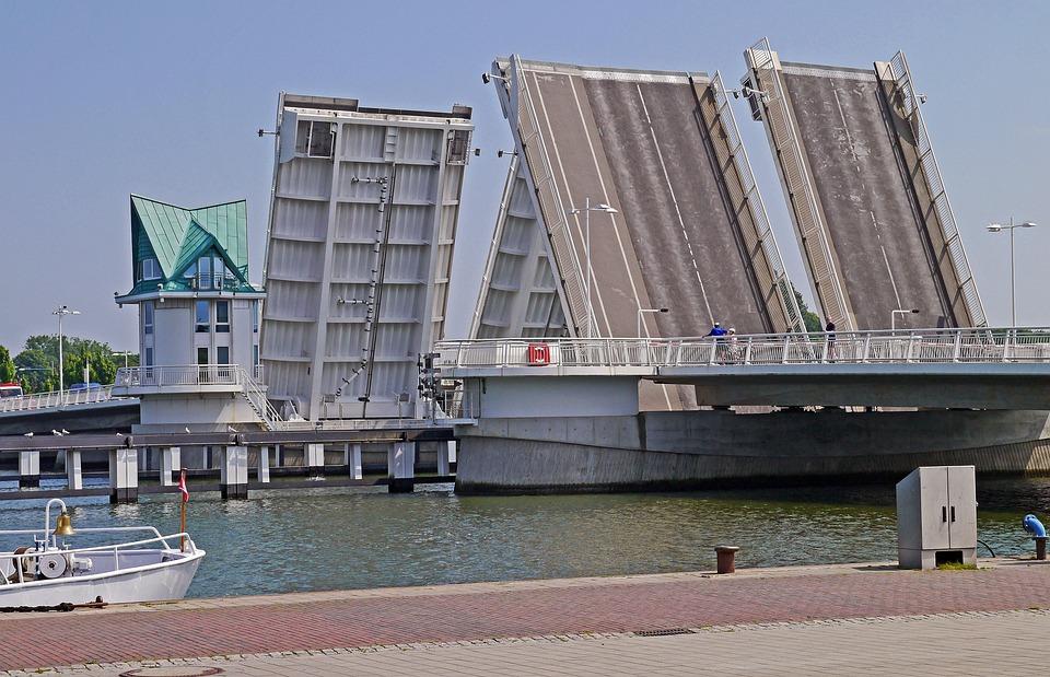 Bascule Bridges, Kappeln, Schlei, Baltic Sea Fjord