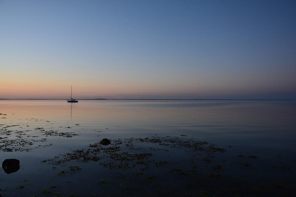Baltic Sea, Water, Sea, Coast, Blue, Sailing Boat