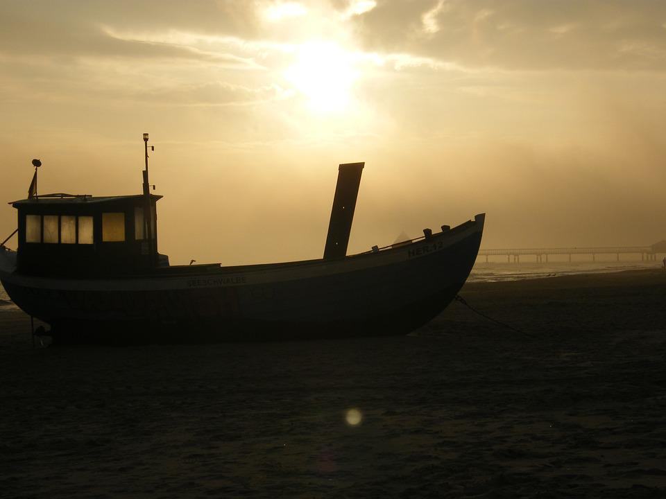 Beach, Fishing Boat, Usedom, Sea, Boot, Baltic Sea
