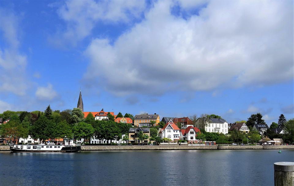 Port, Sea, Ship, Germany, Baltic Sea, Water, City View