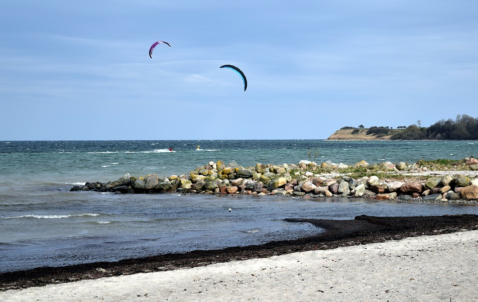 Water, Beach, Baltic Sea, Water Sports, Kite Surfing