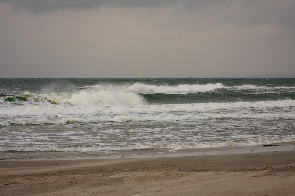 Baltika, Sea, Storm, Kaliningrad, Landscape, Surf, Wave