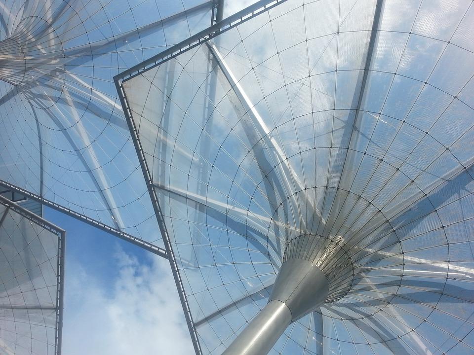 Roof, Plexiglas, Modern, Architecture, Sun, Baluer Sky
