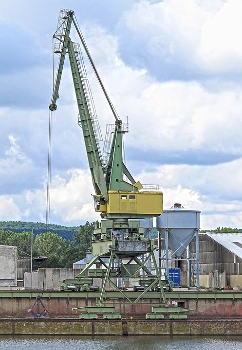 Crane, Port, Bamberg, Harbour Crane, Envelope