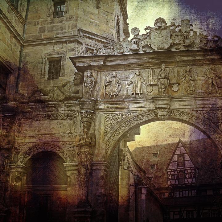 Bamberg, Archway, Input, Historically, Facade, Building