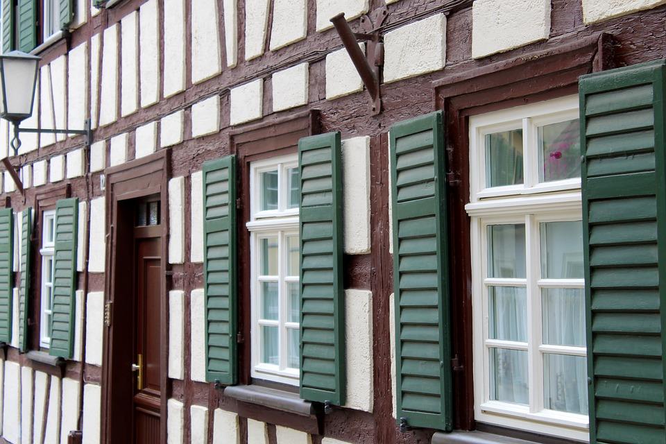 Bamberg, Facade, Truss, Window, Building, Historically