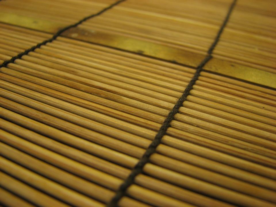 Bamboo, Mat, Pattern