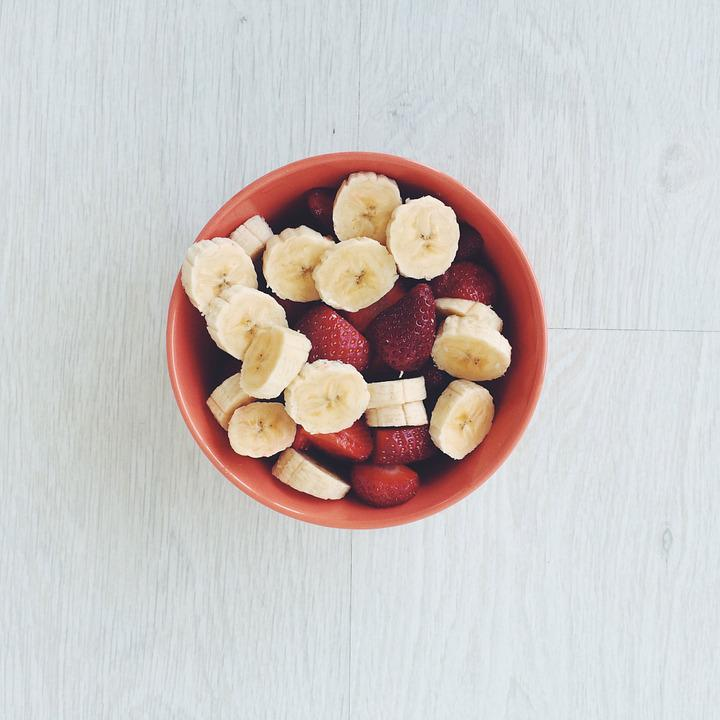 Banana, Strawberries, Breakfast, Boat, Lunch, Food