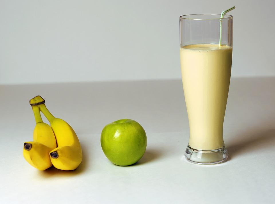 Banana, Apple, Smoothie, Drink, Fruit, Diet, Milkshake
