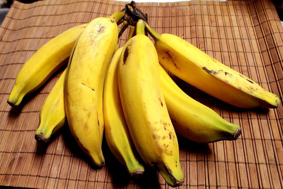 Banana, Fruit, Tropical Fruit, Food, Yellow, Mature