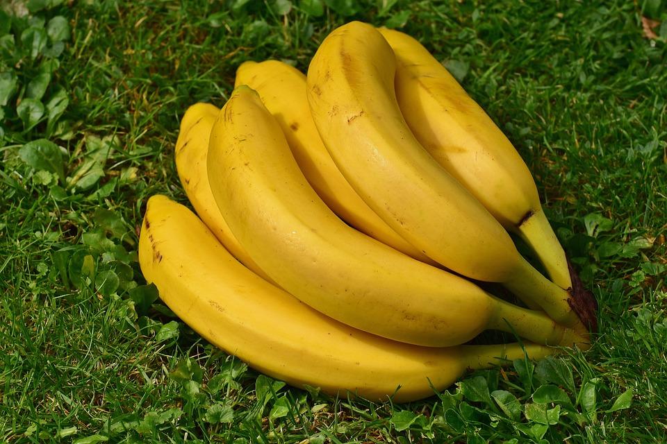 Bananas, Fruits, Fruit, Healthy, Yellow, Banana Peel