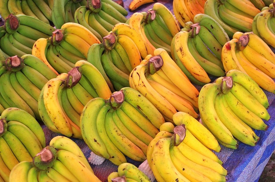Bananas, Banana Trees, Thai Market, Market