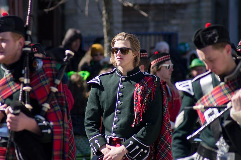St Patrick's Day, Piper, Boston, Band