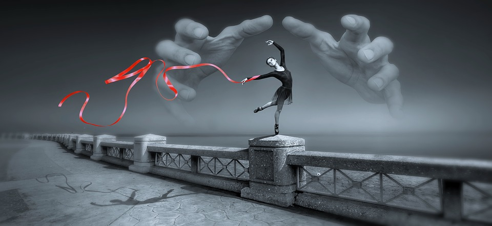 Fantasy, Dancer, Hands, Band, Railing, Mystical