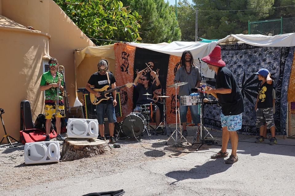 Band, Music, Men, Ibiza, Market, Musician, Man, Fun