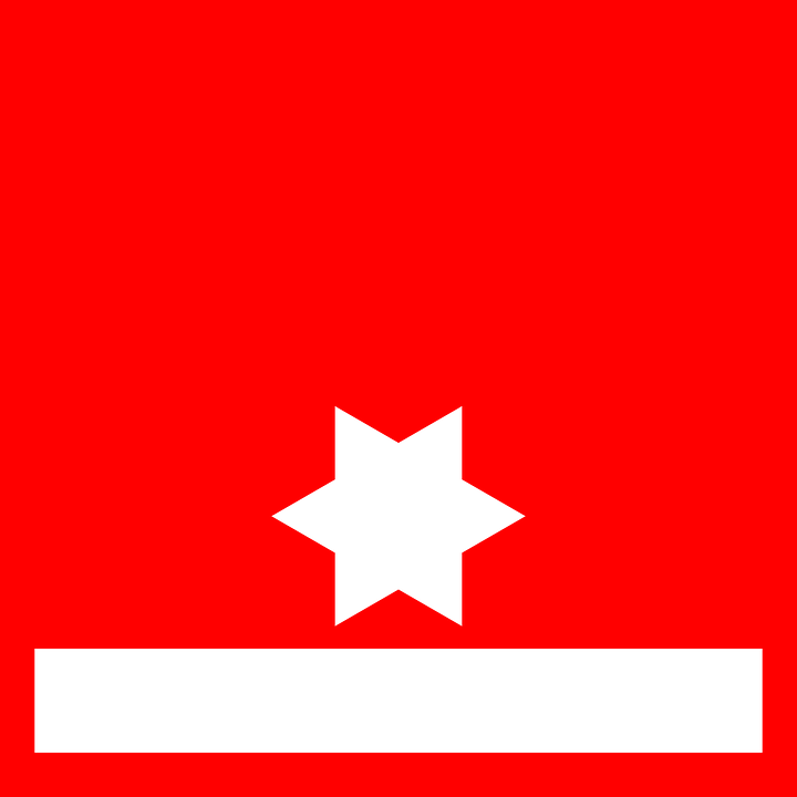 Star, Flag, Red, White, Band, Red Stars