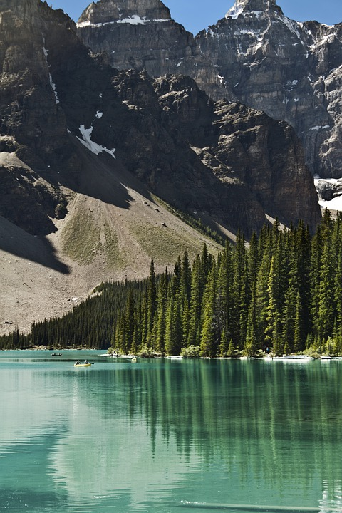 Banff National Park, Lake, Rocky Mountains, Moraine
