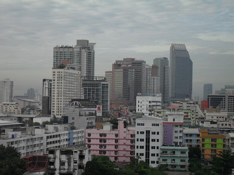 Skyline, Bangkok, Thailand, Skyscraper, Architecture