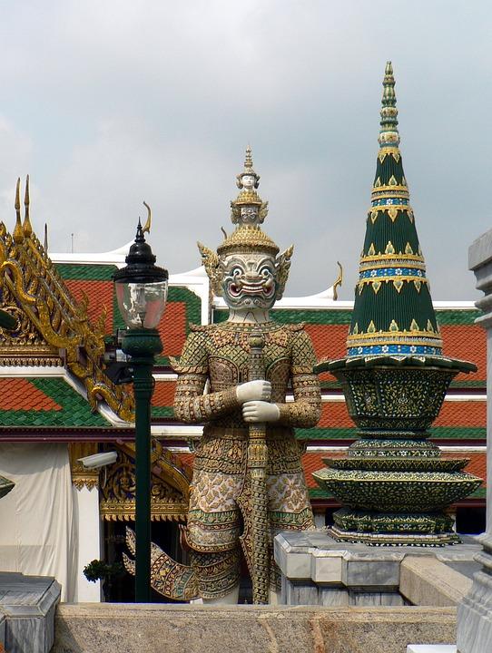 Bangkok, Palace, Royal, Guardian, Statue, Divinity