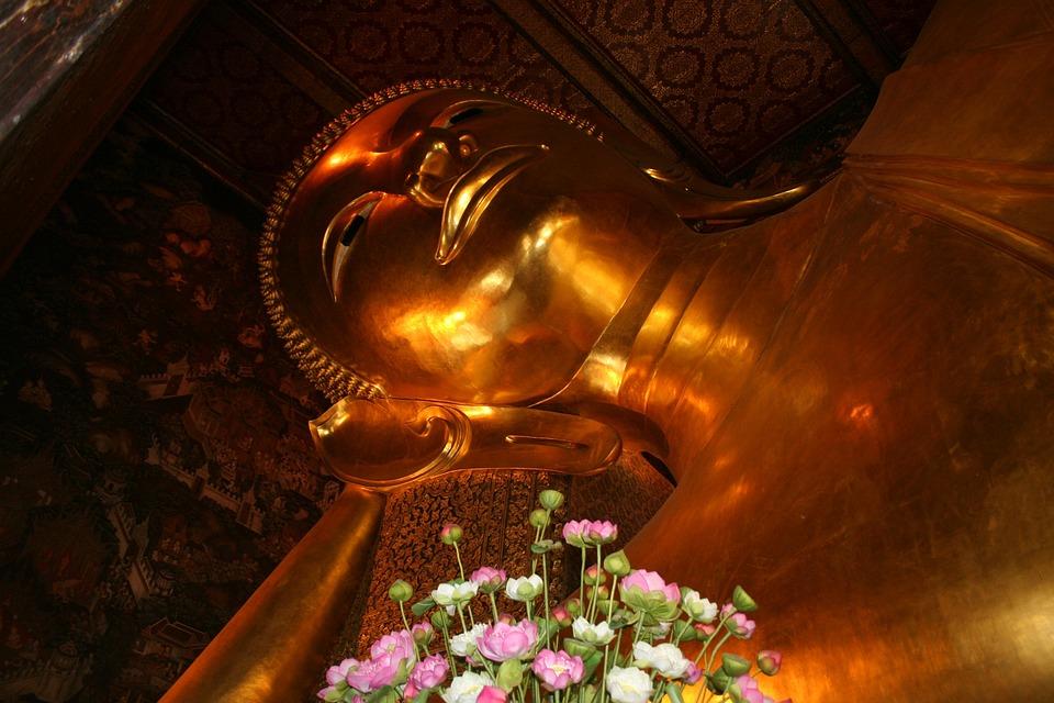 Buddha, Lying Buddha, Reclining Buddha, Bangkok