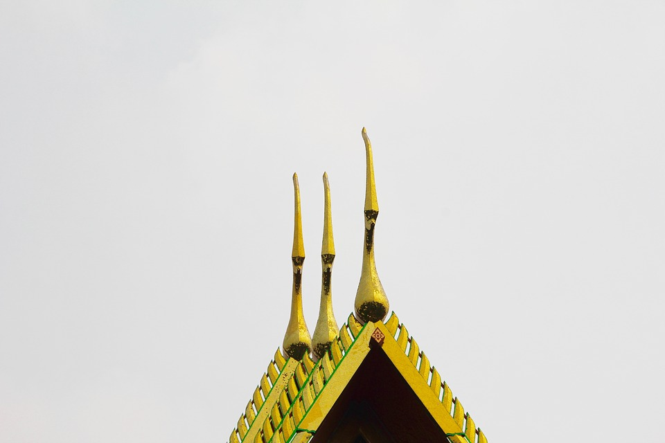Thailand, Bangkok, Temple, Roof, Asia, Palace, Building