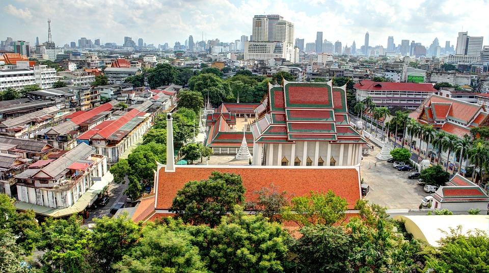 Bangkok, Thailand, Temple, Cityscape, Hdr, City