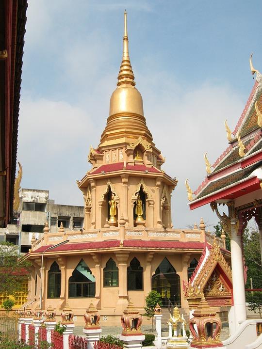 Pagoda, Buddhists, Thailand, Bangkok, Temple, Gold