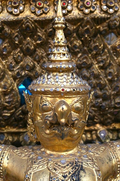 Demon, Face, Thailand, Temple, Bangkok, Thai, Religion