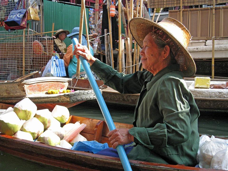 Bangkok, Thailand, Floating Market, Travel