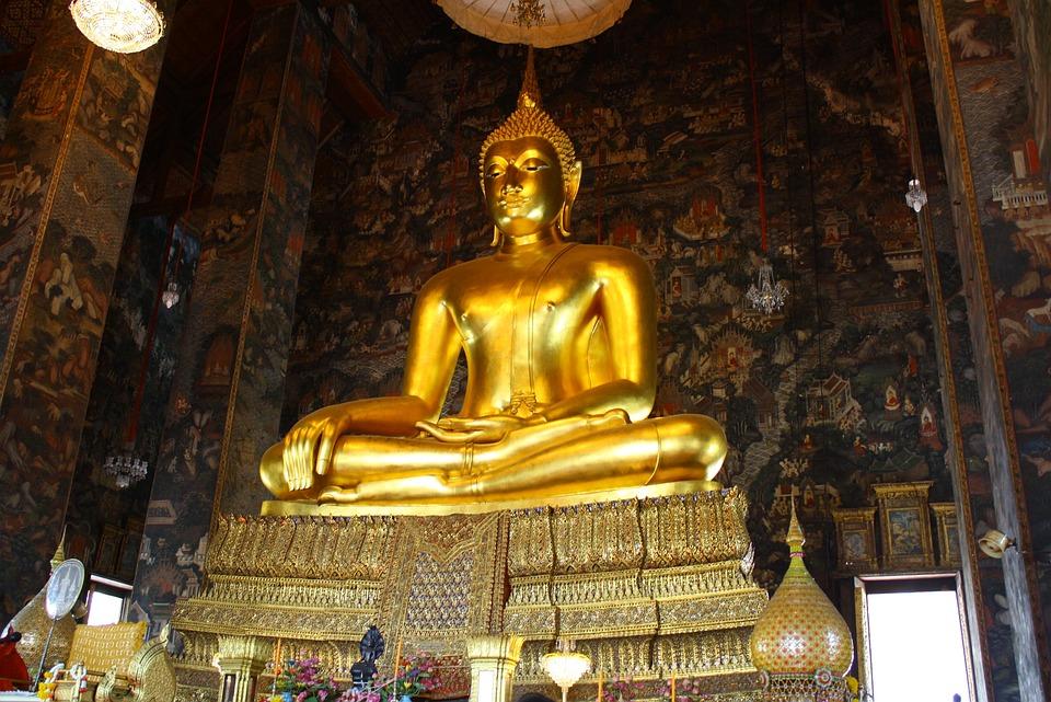 Temple, Buddha, Bangkok, Thai, Gold, Thailand, Asia