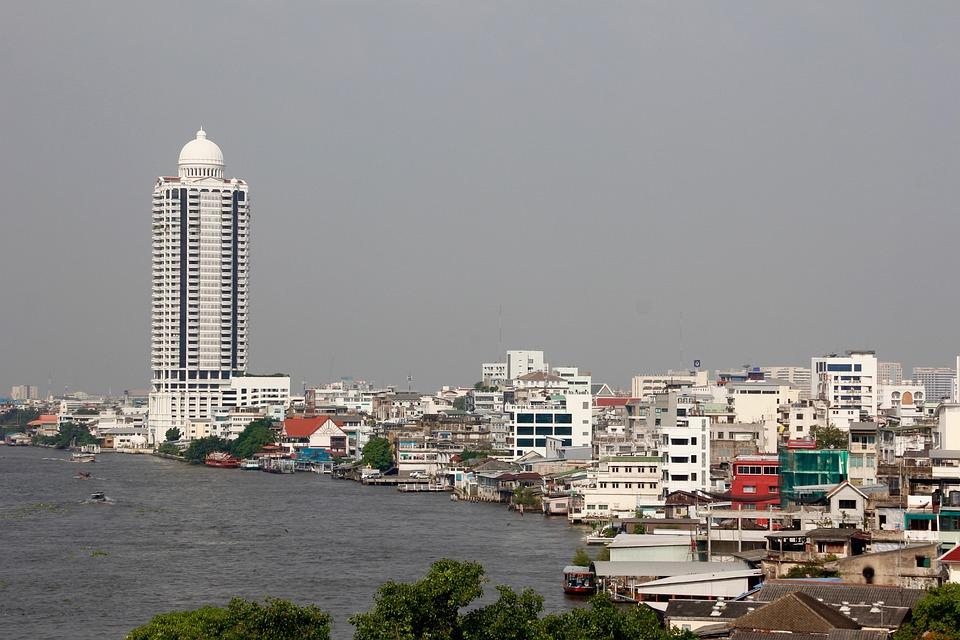 Bangkok, Thailand, Skyscraper, River, Asia, Building