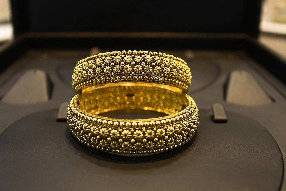 Golden, Gold, Jewellery, Bangles, Floral, Beautiful