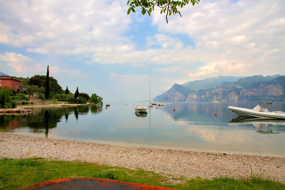 Garda, Italy, Lake, Malcesine, Bank, Landscape, Holiday