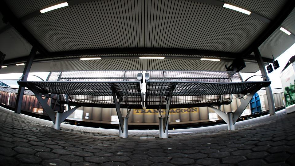 Bank, Seat, Platform, Wait, Steel Grid, Metal Bench