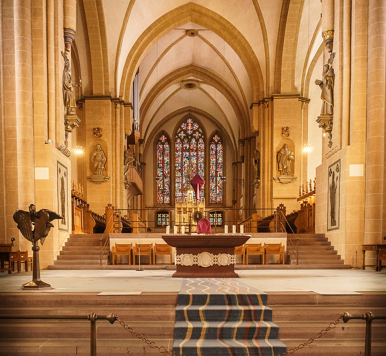 Church, Altar, Cathedral, Religion, Bank, Within, Dom
