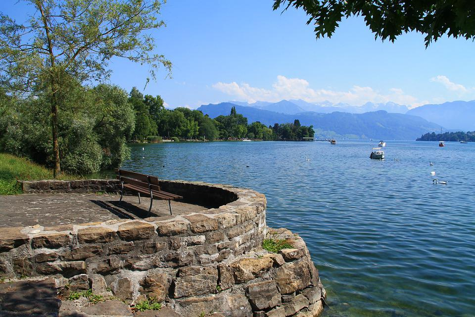 Switzerland, Lucerne, Water, Lake, Rest, Recovery, Bank