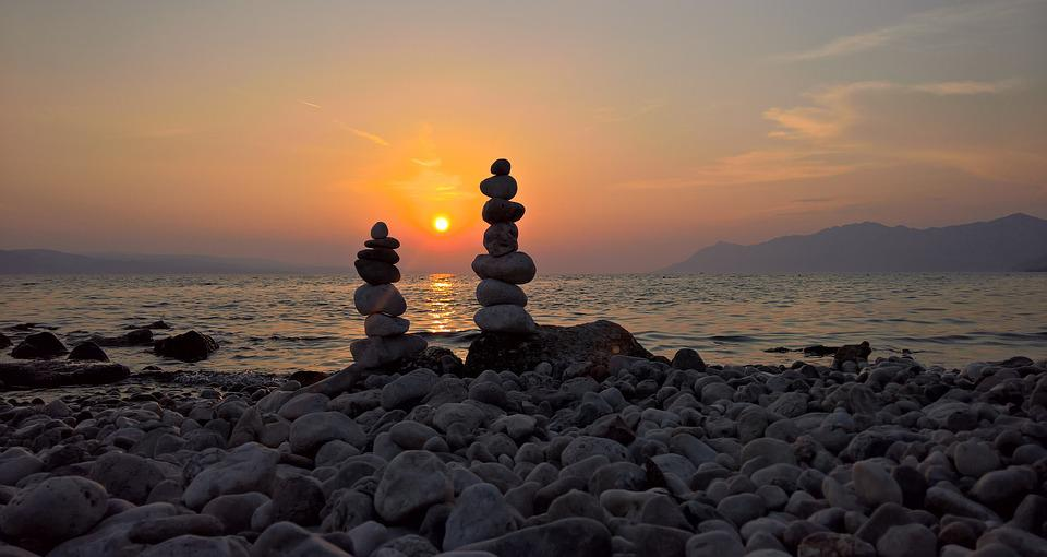 Sea, Summer, Beach, Stones, Sunset, Stone Beach, Bank