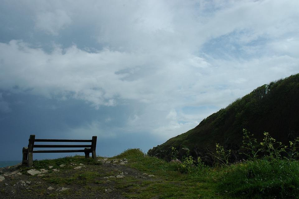 England, Cornwall, Bank, United Kingdom, Sky, Clouds
