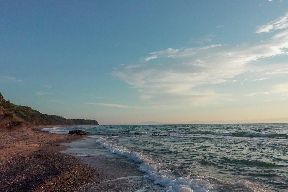 Beach, Wave, Sea, Water, Ocean, Landscape, Bank