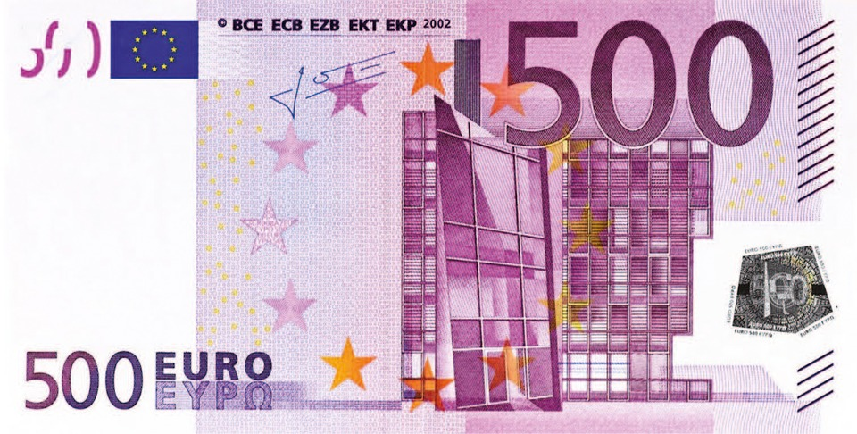 Dollar Bill, 500 Euro, Money, Banknote